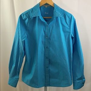 FOXCROFT Button Down Shirt Long Sleeves SZ 10
